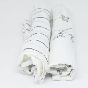 flufi uma camada de algodão: linhas cinza + passeio cinza. Kit com 2 unidades