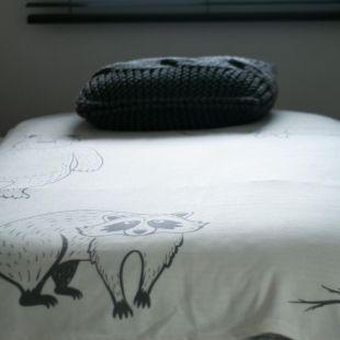 cobertor bicho floresta com nome da criança