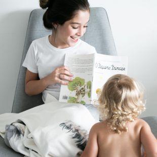 cobertor bicho tamanduá com nome da criança