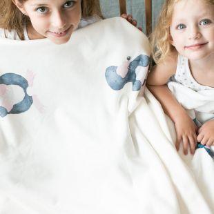 cobertor bicho toupeira com nome da criança