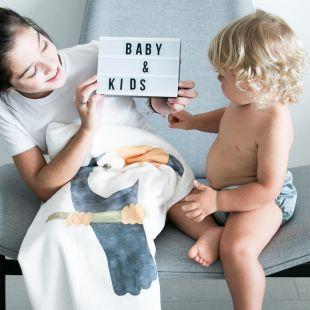 cobertor bicho tucano com nome da criança