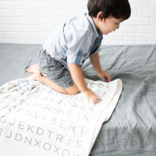 cobertor em ilustração caça nome da criança - 12 opções de cores
