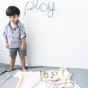 cobertor em estampa dos desenhos das crianças, durma com a sua imaginação