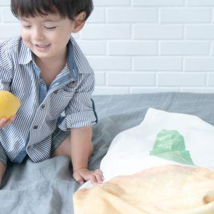 cobertor fruta limão com nome da criança