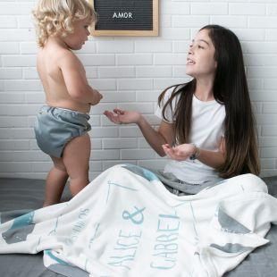 cobertor em ilustração melhores amigos design - 12 opções de cores