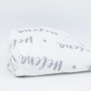 cobertor em pattern nome da criança - 12 opções de cores