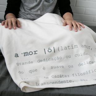 cobertor em estampa significado amor - 12 opções de cores