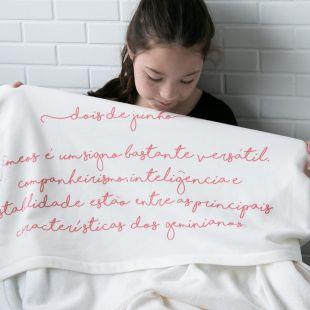cobertor em estampa signo - 14 opções de cores