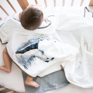 flufi quatro camadas de algodão bicho tamanduá com nome da criança