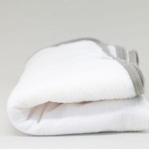 flufi duas camadas de algodão branco