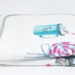 flufi duas camadas de algodão em pintura candy com nome da criança