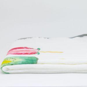 flufi fruta picolé com nome duas camadas de algodão