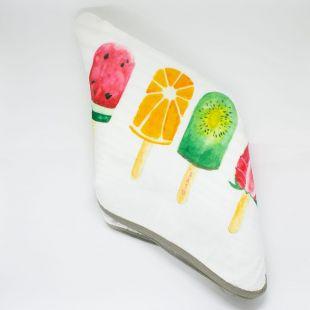flufi quatro camadas de algodão fruta picolé quatro sabores com nome da criança com verso em linhas cinza