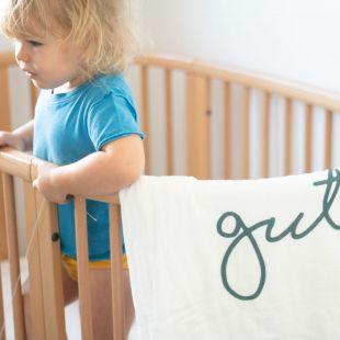 flufi duas camadas de algodão em estampa nome da criança - 12 opções de cores