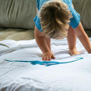 flufi quatro camadas de algodão bicho dino com nome da criança