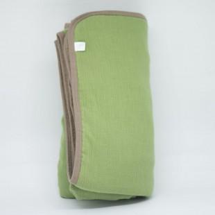 flufi quatro camadas de algodão em cor verde cactus borda areia