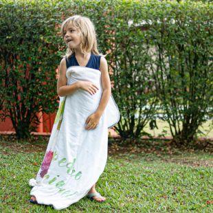 flufi quatro camadas de algodão em pintura splash com nome da criança