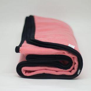 flufi quatro camadas de algodão em cor coral chic borda preta