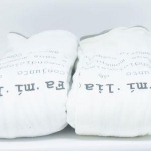 flufi duas camadas de algodão em estampa significado família - 14 opções de cores