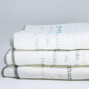 flufi quatro camadas de algodão em estampa significado nome da criança - 14 opções de cores