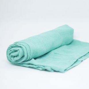 flufi uma camada de algodão em cor azul turquesa