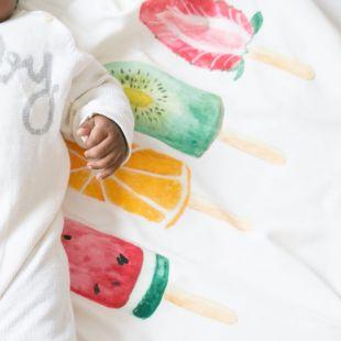 matinha fruta picolé com nome da criança