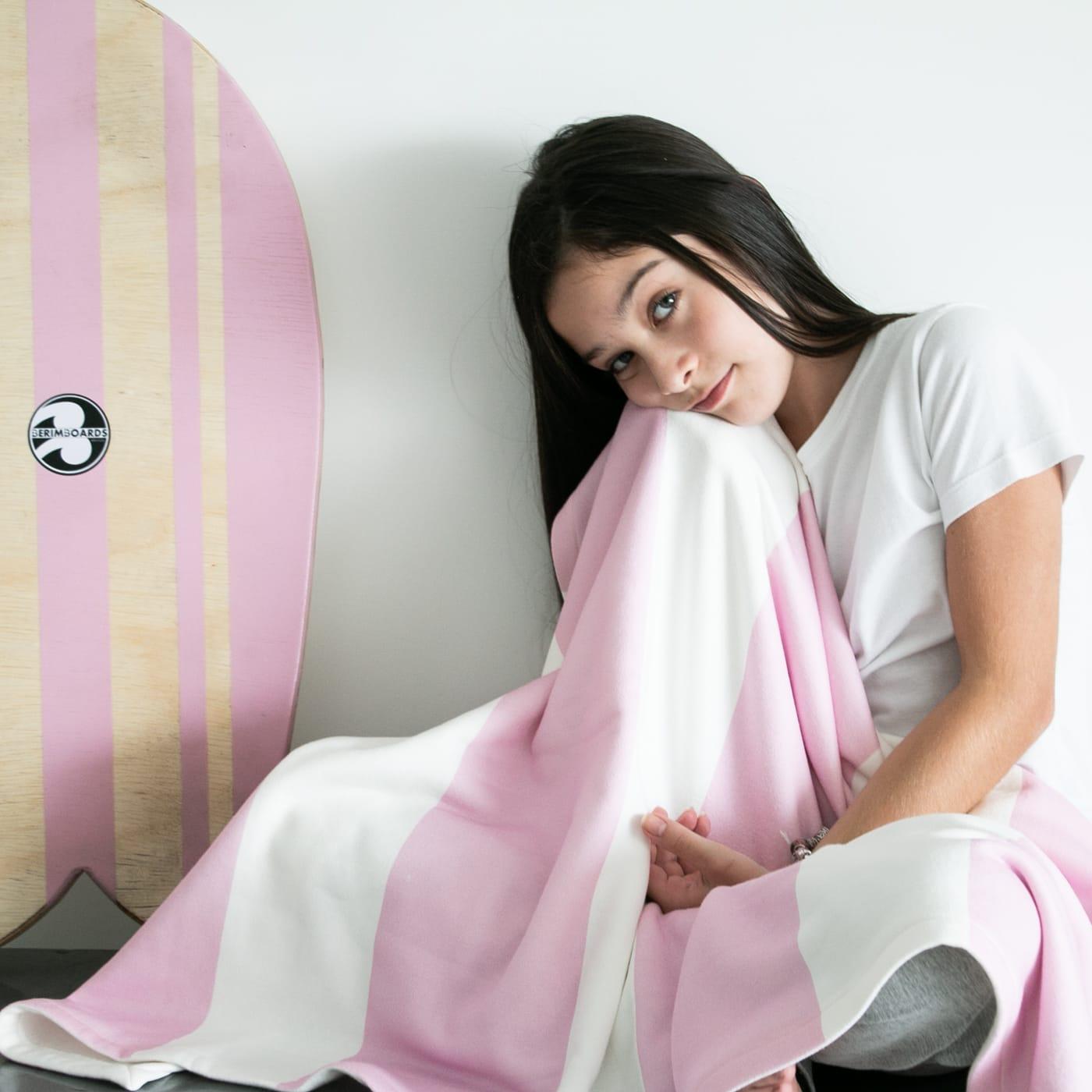 cobertor em pattern listras - 14 opções de cores