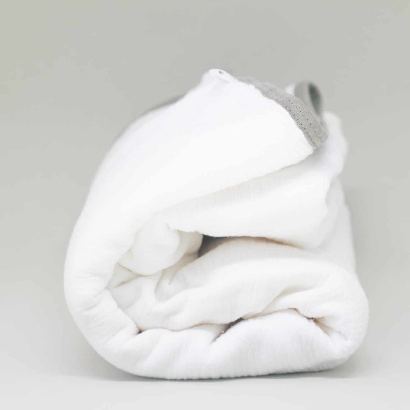 flufi quatro camadas de algodão em cor branco