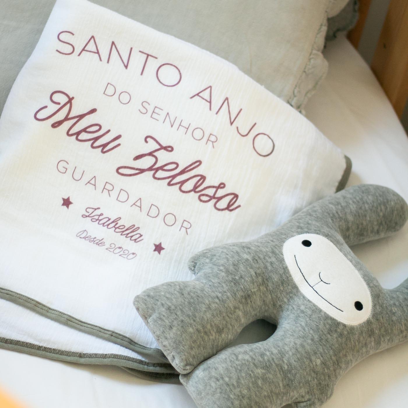flufi duas camadas de algodão frase santo anjo - 14 opções de cores