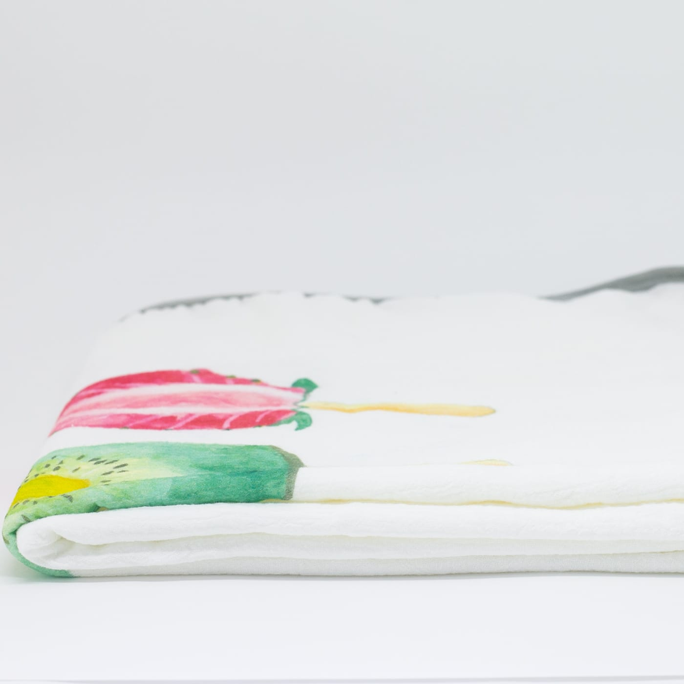 flufi duas camadas de algodão em pintura fruta picolé com nome da criança