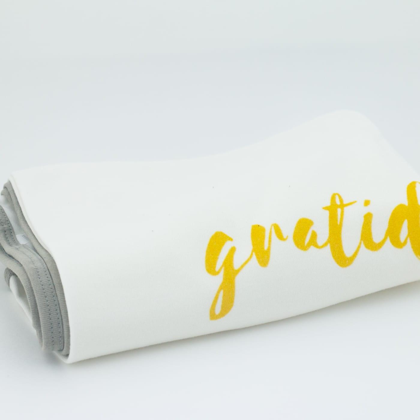 Mantinha Frase Gratidão 12 Opções De Cores Enxoval