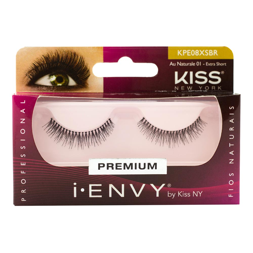 Cílios Postiços Kiss New York I-Envy Au Naturale 01 Extra Short