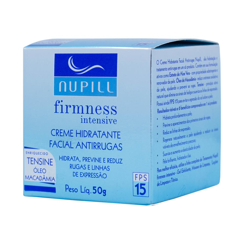 Creme Hidratante Antirrugas Nupill Firmness Intensive FPS 15