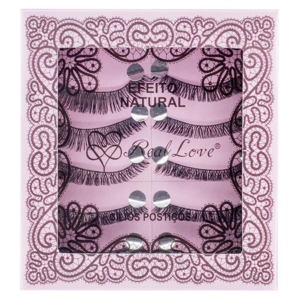 Kit de Cílios Postiços Real Love 056 com 5 Pares