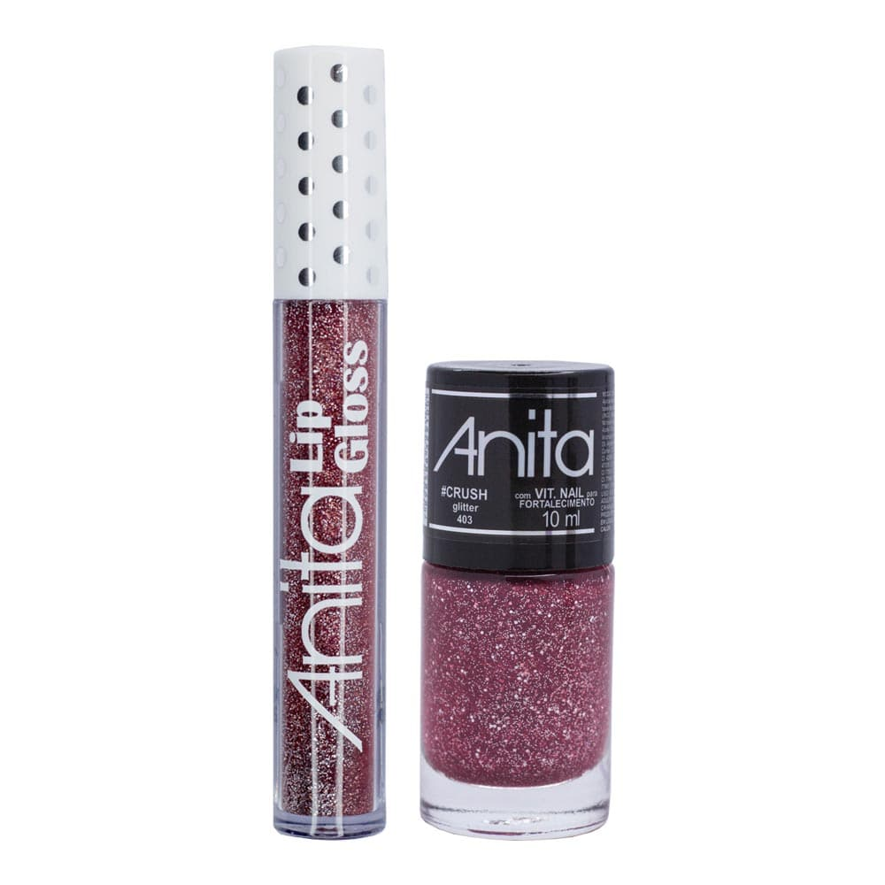 Kit de Gloss Labial e Esmalte Anita #Crush