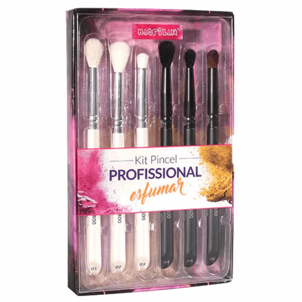 Kit Pincel Profissional Macrilan Esfumar WB800