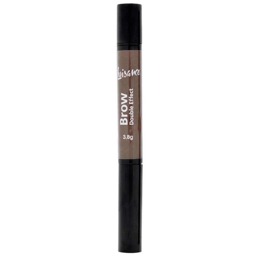Lápis e Máscara Para Sobrancelha Luisance Brow Double Effect L1018