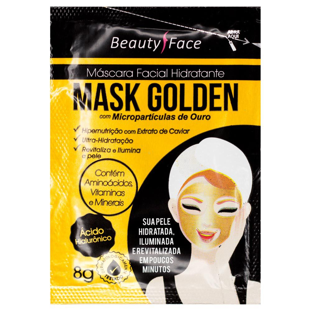 Máscara Facial Hidratante Beauty Face Mask Golden