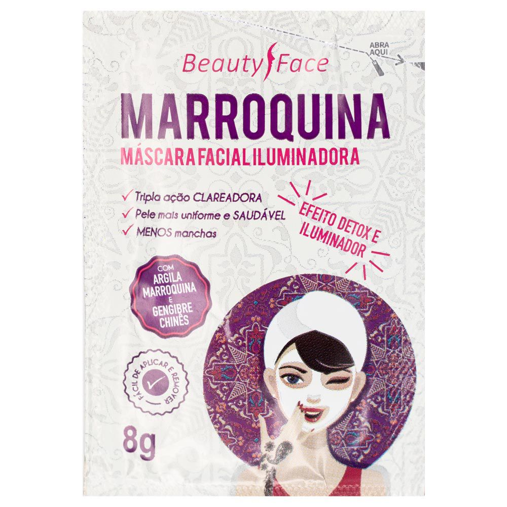 Máscara Facial Iluminadora Beauty Face Marroquina