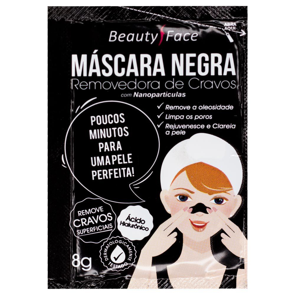 Máscara Negra Beauty Face Removedora de Cravos