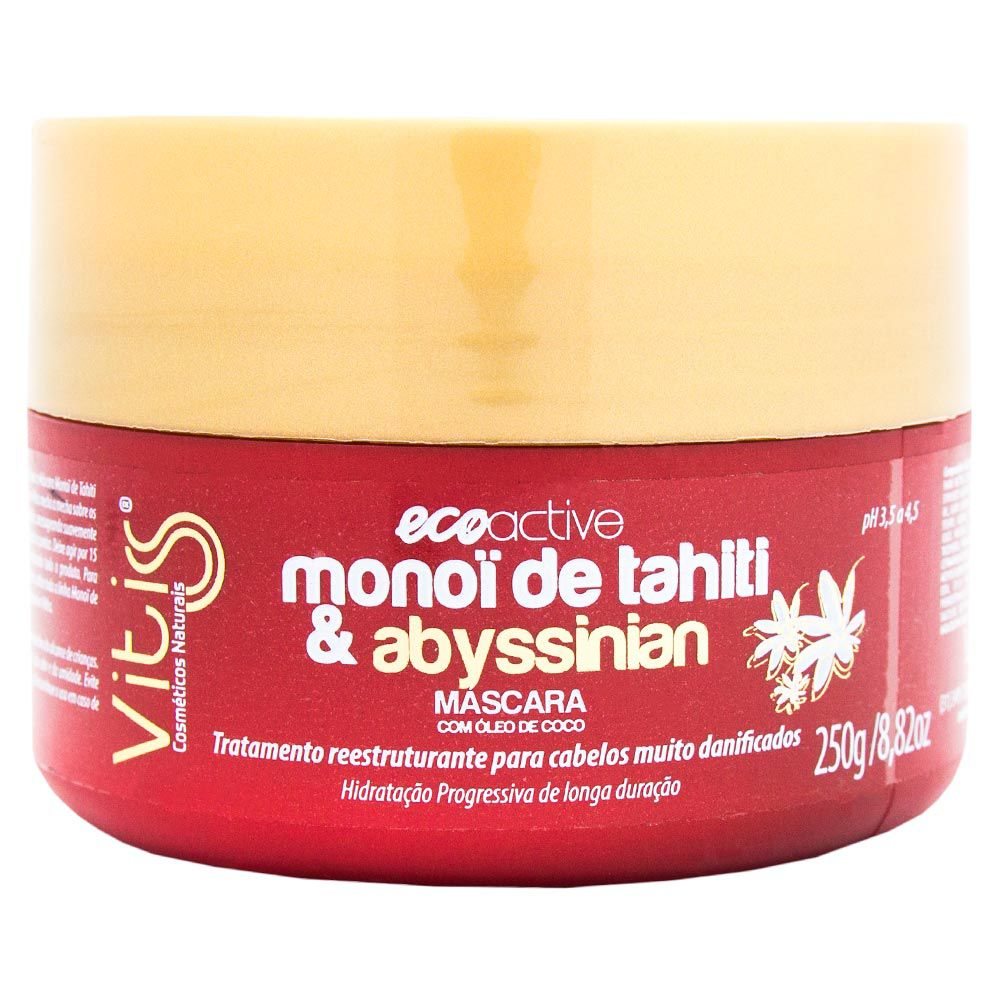 Máscara Vitiss Monoi de Tahiti e Abyssinian 250g