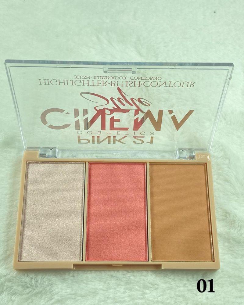 Paleta de Blush Cinema Style Pink 21 Cor 01