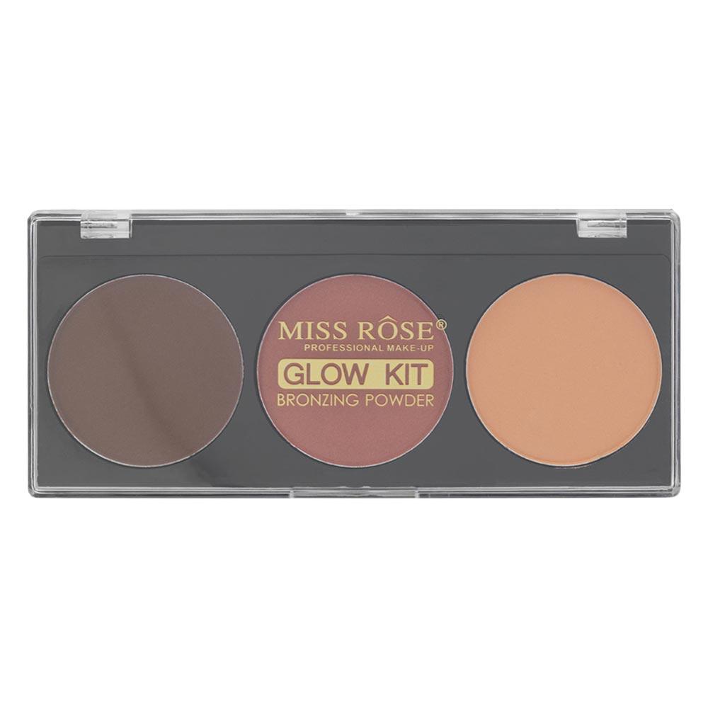 Paleta de Blush e Contorno Miss Rôse Glow Kit Bronzing Powder