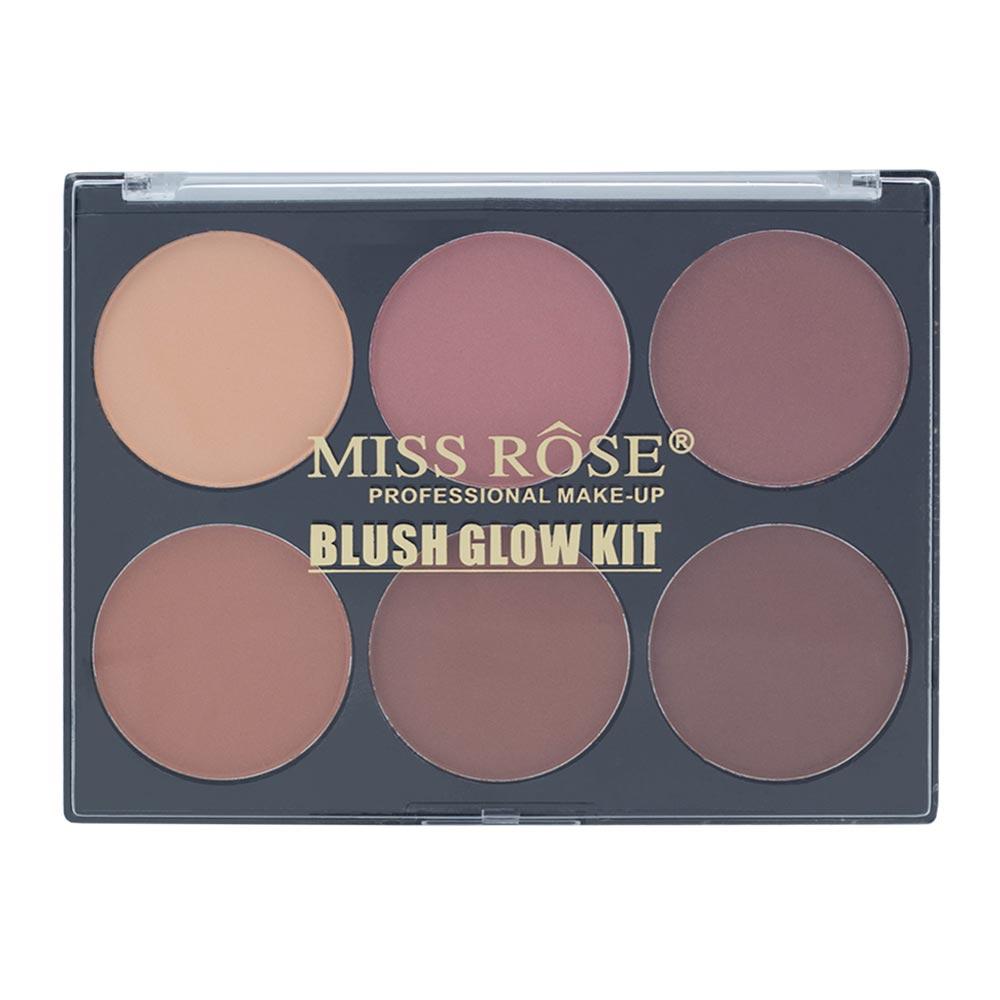 Paleta de Blush Glow Miss Rôse 02 com 6 Cores