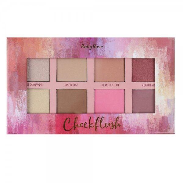 Paleta de Iluminador, Contorno e Blush Ruby Rose Cheek Flush