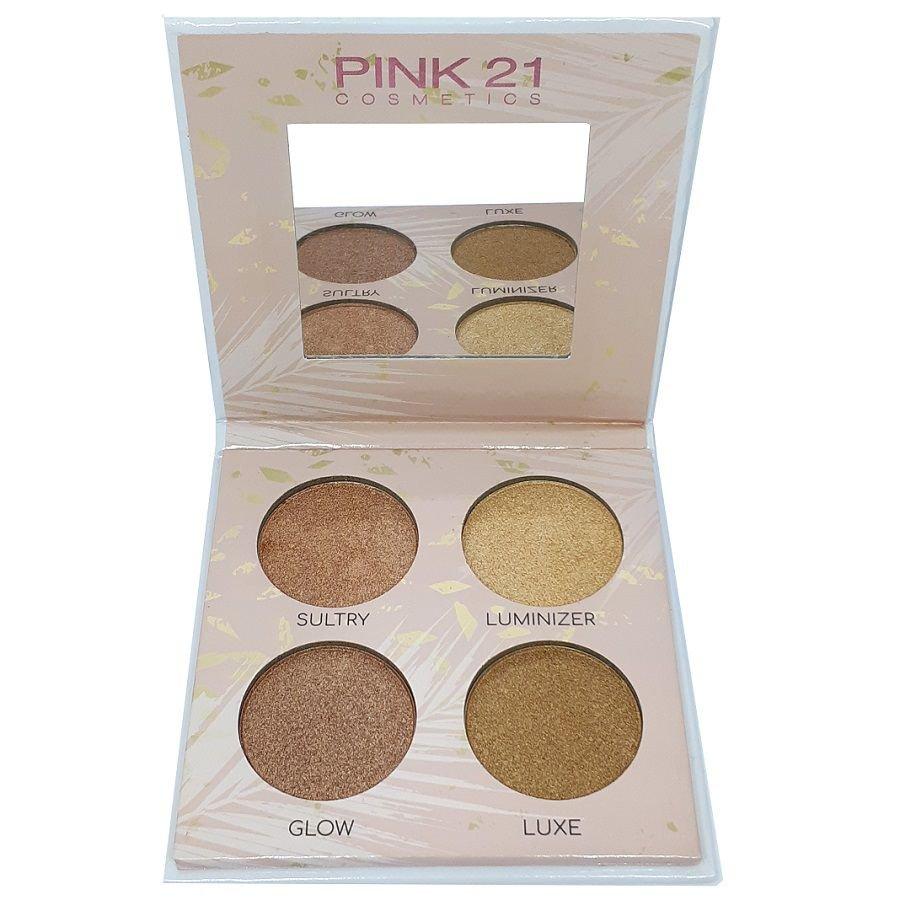 Paleta de Iluminador Highlighter cor 2 -  Pink 21