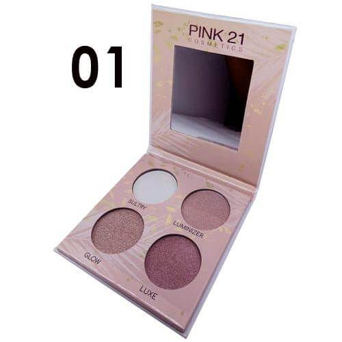 Paleta de Iluminador Highlighter cor 1 -  Pink 21