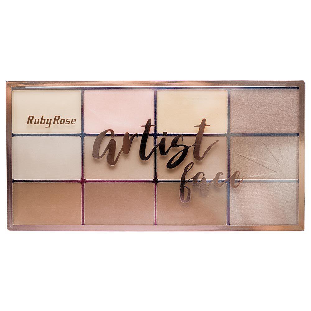 Paleta de Pó e Bronzeador Ruby Rose Artist Face