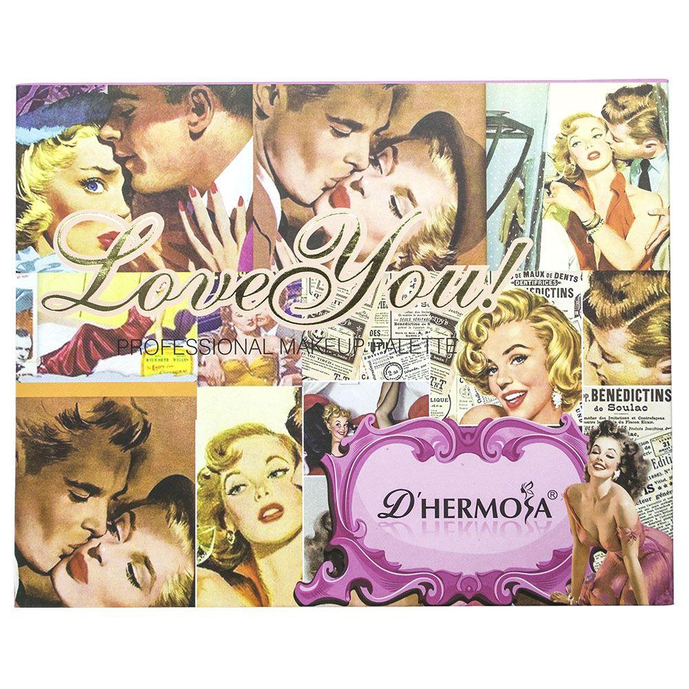Paleta de Sombra, Blush e Iluminador D'Hermosa Love You