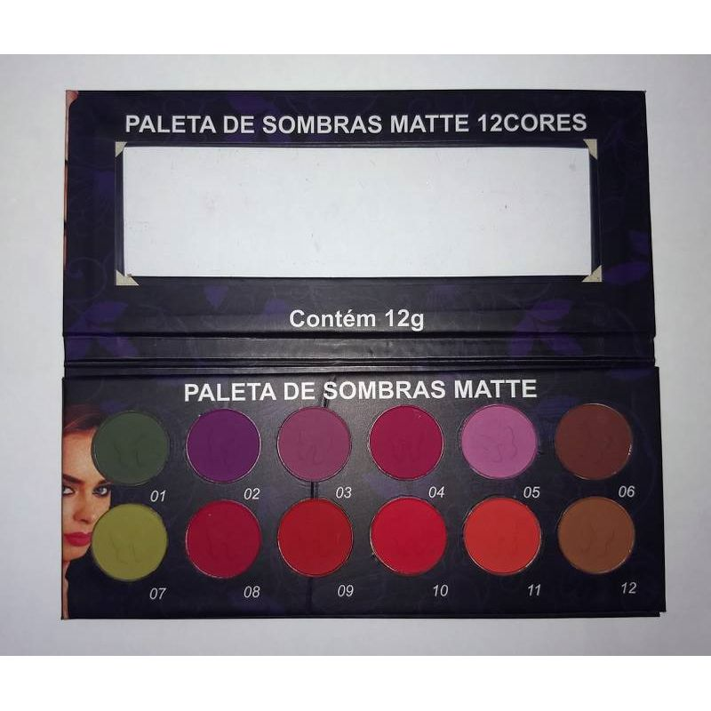 Paleta de Sombra Matte Ludurana 12 cores